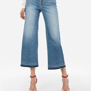 ♦️ Express High Rise Wide Leg Cropped Jeans